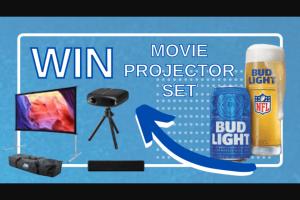 Terrible Herbst – Bud Light Movie Package Giveaway – Win 1 Movie Projector 1 Movie Projector Screen 1 Wireless Speaker