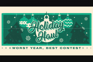 Tunespeak – Holiday Haul Worst Year Best Contest – Win $5000 Cash (CAD).