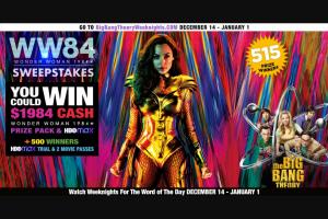Warner Bros – The Big Bang Theory Wonder Woman 1984 Sweepstakes