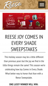 World Finer Foods – Reese Joy Comes In Every Shade – Win WINNER) Prize package including (1) 2 qt