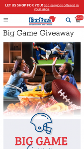 Allegiance Retail Services – Big Game Gift Card Giveaway Sweepstakes