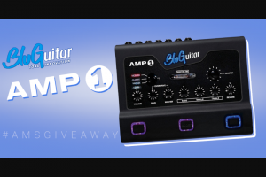 American Musical Supply – Bluguitar Amp 1 Giveaway Sweepstakes
