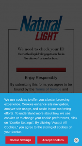 Anheuser-Busch Natural Light – Finally '21 – Win one $15.00 pre-paid card that can be used to purchase one 24-pack of Natural Light beer