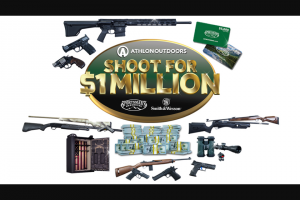 Athlon Outdoors Ballistic – Shoot For One Million – Win a trip for two to Phoenix