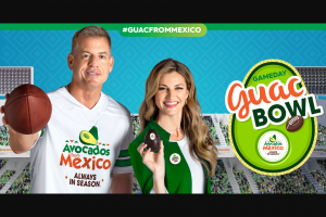 Avocados From Mexico – Gameday Guac Bowl Sweepstakes
