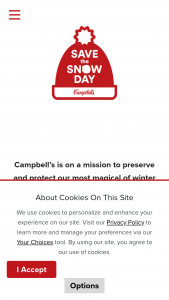 Campbell's – Save The Snow Day – Win the Snow Day Activity Kit (Approximate Retail Value $75/each).