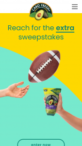 Curation Foods – Cabo Fresh Reach For The Extra – Win a Cabo Fresh Prize pack worth $30 and guacamole worth $25.