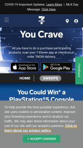 7-eleven – Get What You Crave – Win one PlayStation5 Console
