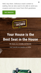 Farm Rich – Concessions At Home Sweepstakes