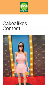 Food Network Magazine – January/february 2021 Cakealikes Contest – Win a $500 check (ARV $500).