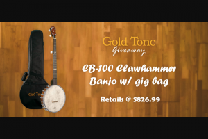 Gold Tone – Clawhammer Banjo – Win 1 CB-100 Clawhammer Banjo with Gig Bag