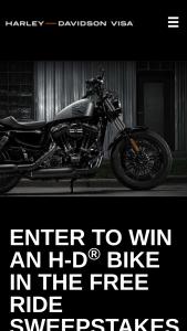 Harley-Davidson – VISA Free Ride – Win Davidson Gift Card