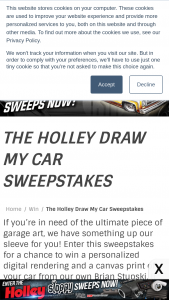 Holley – Draw My Car – Win drawing of the car they provided information on
