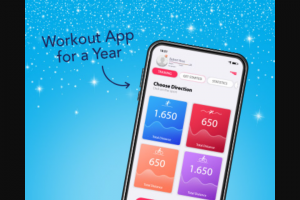 Hydroxycut – 2021 New Year – Win a 1-year workout app subscriptions (approximately $250 each).