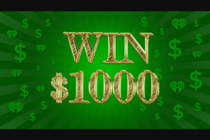 Iheartmedia – 2021 Q1 Cash – Win $1000 in the form of a check