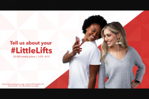 """Intuit Turbotax – """"#littlelifts"""" – Win one Prize – the Nominator Prize – of $1000."""