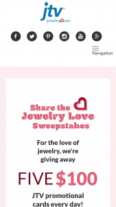 Jewelry Television – Share The Jewelry Love Sweepstakes