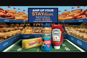 Kraft Heinz Foods – Amp Up Your Staydium – Win $2500 fulfilled as a Venmo payment from Administrator (@Merkle) to winner's Venmo account