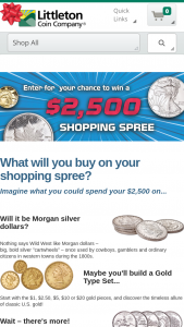 Littleton Coin – January – Win Shopping Spree valued at $2500.00.
