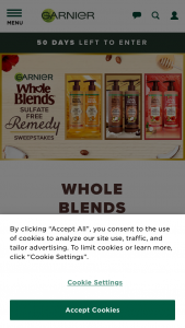 L'oreal USA – Garnier Whole Blends Sulfate Free Remedy Sweepstakes