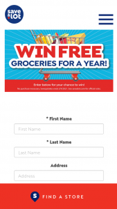 Moran Foods Save-A-Lot – Free Groceries For A Year Online Sweepstakes