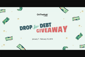 Onthehub – Drop The Debt Giveaway Sweepstakes