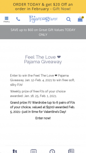 Pajamagram – Feel The Love Pajama Giveaway Sweepstakes