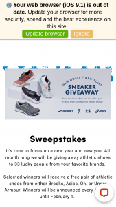 Peltz Shoes – New Goals/new Soles Sneaker Giveaway – Win a free pair of athletic shoes from either Brooks