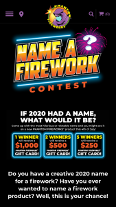 Phantom Fireworks – Name The Firework Contest Sweepstakes