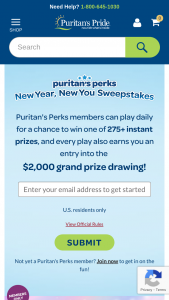 Puritan's Pride Nbty Global – New Year New You Sweepstakes
