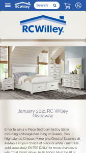 Rc Willey – January Giveaway Sweepstakes