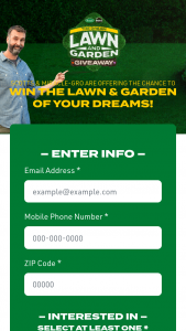 Scotts & Miracle-Gro – Dream Lawn And Garden Giveaway Sweepstakes