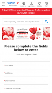Shoplc – Be Our Valentine Sweepstakes