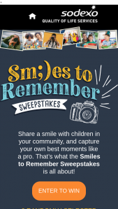 Sodexo – Smiles To Remember – Win one (1) Canon Powershot SX70 20.3MP Digital Camera with 65x Optical Zoom Lens