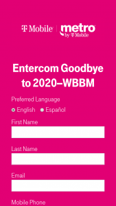 "T-Mobile – Wbbm Goodbye To 2020 – Win Samsung 75"" Class 6 Series LED 4K UHD Smart Tizen TV"