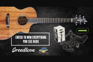 American Musical Supply – Breedlove & Shure Giveaway Sweepstakes