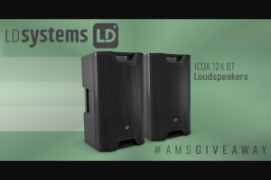 American Musical Supply – Ld Systems Icoa Giveaway Sweepstakes
