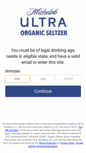 Anheuser-Busch – Michelob Ultra Organic Seltzer Ipad Air Giveaway – Win (10 Total) One (1) iPad Air