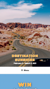 "Associated Wholesale Grocers – Destination Sunshine – Win The ""Grand Prize"" consists of the following (i) one (1) week-long RV rental gift card"