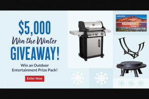 Bbqguys – Win The Winter Giveaway Sweepstakes