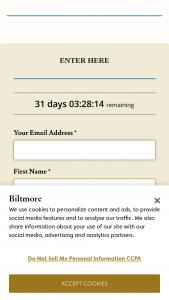 Biltmore By Belk – Foundation Bedding – Win a Biltmore® Superior Comfort Mattress Pad (1) Biltmore® Medium Warmth Down Comforter for All Seasons (1) and Biltmore® Suprelle Fiber Pillows (2).