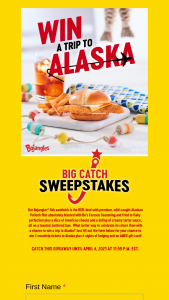 Bojangles – Bojangler Big Catch Giveaway – Win two roundtrip flights to Alaska