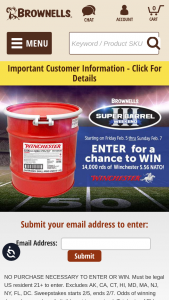 Brownells – Super Barrel Iii Giveaway – Win 14000 round barrel of ammunition Winchester USA 55gr FMJ 5.56.