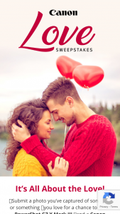 Canon USA – Love – Win Sweepstakes is One (1) PowerShot G7 X Mark III (approx