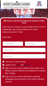 Cataboom Arizona Desert Diamond Casino – Play To Win – Win Grand Prize is $999.00