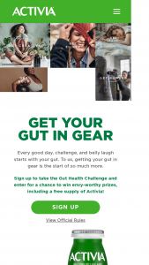 Danone Us – Activia Get Your Gut In Gear Sweepstakes