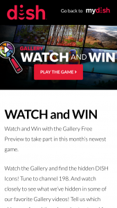 Dish Network – 'gallery Watch And Win' Sweepstakes