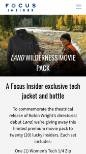 Focus Features – Land Prize Pack – Win to each Winner