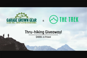 Garage Grown Gear – 2021 Thru-Hiking Giveaway Sweepstakes