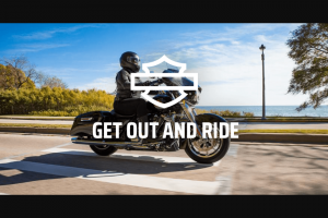 Harley-Davidson – Get Out And Ride Instant Win And – Win Harley-Davidson Road Glide motorcycle customized with Harley-Davidson genuine parts and accessories